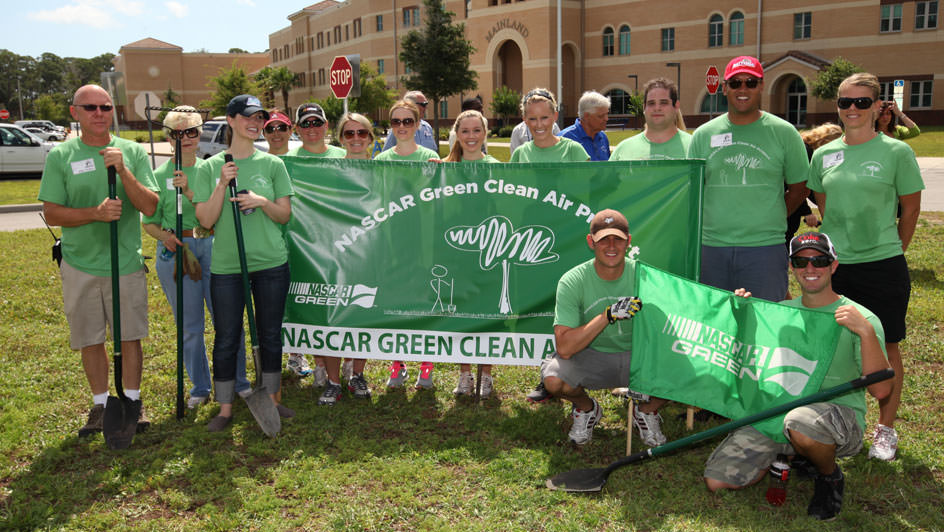 Tree Planting for NASCAR Race to Green