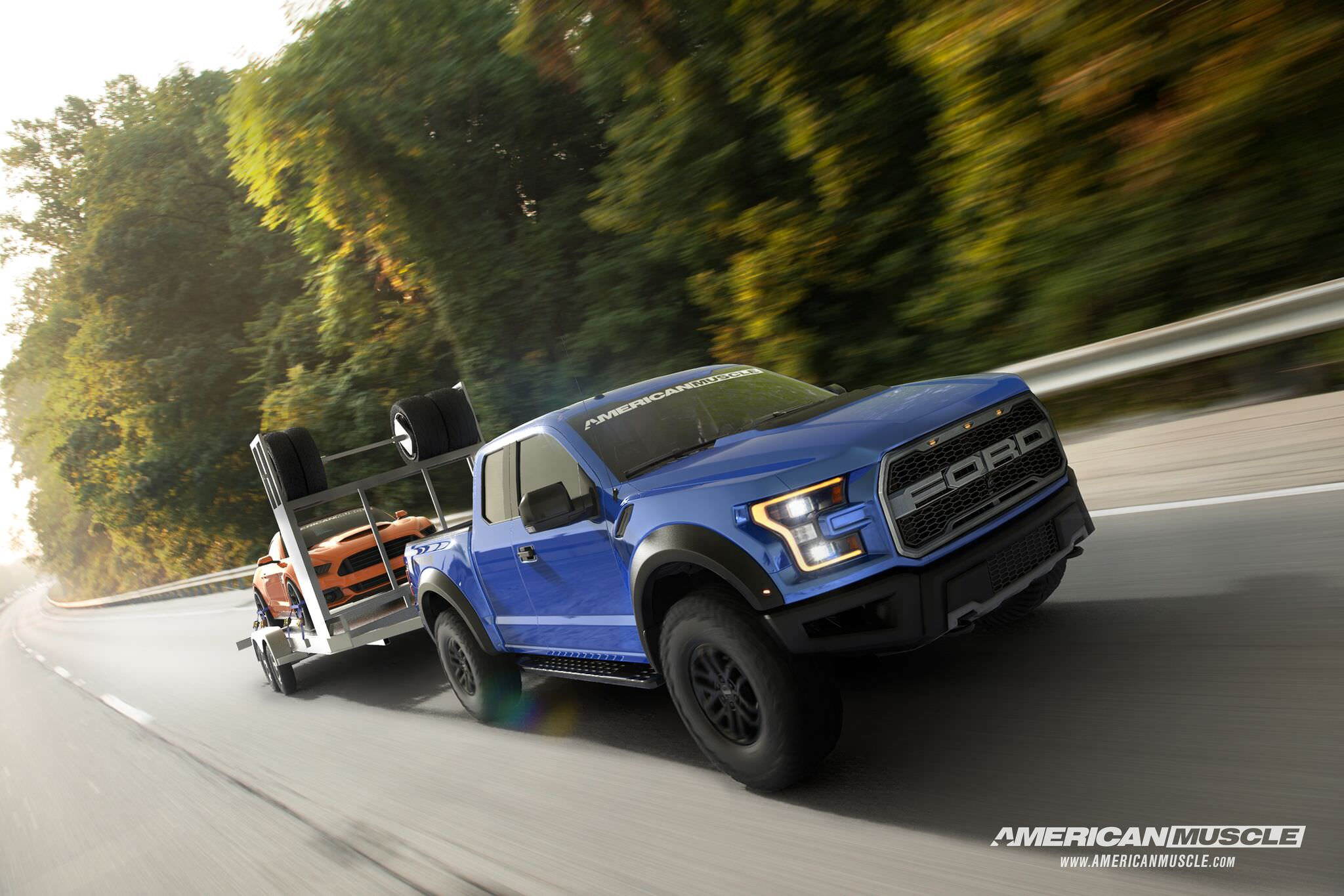 Live now: win a 2017 ford raptor, 850+ hp mustang & racing trailer from americanmuscle