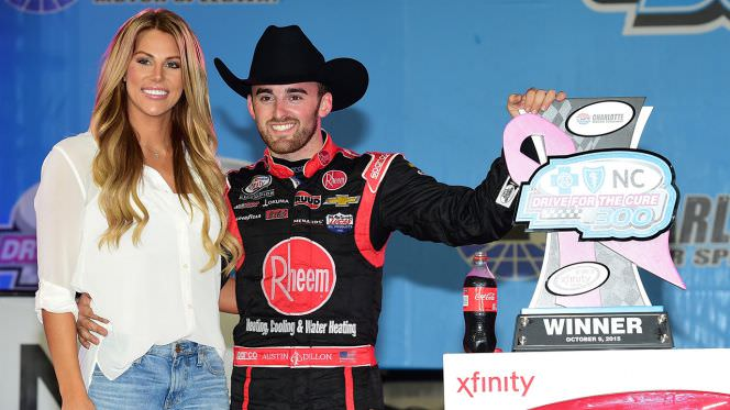 Austin Dillon shared a photo of the couple's special moment on the beach.